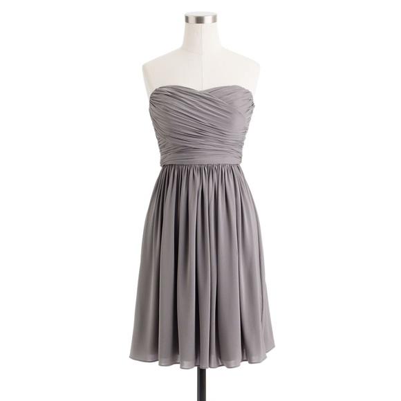 J. Crew Dresses & Skirts - J.Crew Arabelle Bridesmaid Dress (Gray)